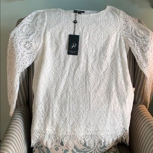 Adrianna Papell lace top. NWT